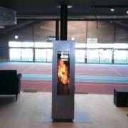 Concept Feuer Matrix, черная/дверь нерж.сталь, поворотная