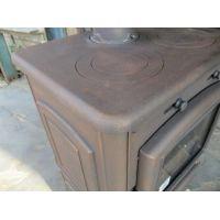 Чугунная печь-камин Ferlux Magma Bronze с плитой