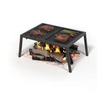 Чугунная плита Везувий - Гриль, Стейк в комплекте с подставкой для стейков и барбекю