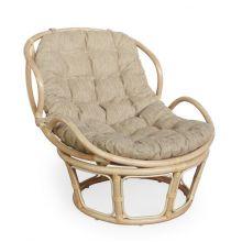 Кресло из ротанга Папасан Челси - мёд