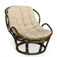 Кресло ротанг Папасан Челси - олива