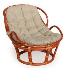 Плетёное кресло Папасан Челси  - коньяк