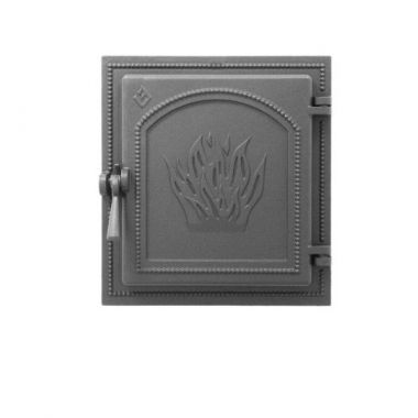 Каминная дверца со стеклом Везувий 270 Антрацит