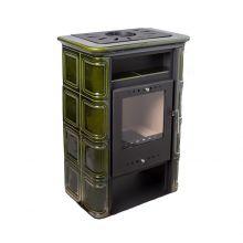 Печь камин Vera Nordflam 6 кВт зелёная