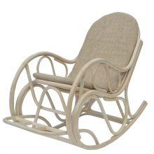 Кресло качалка из ротанга с подножкой