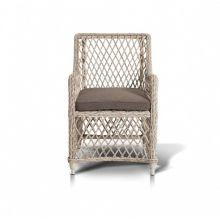 Кресло Латте белое из искусственного ротанга