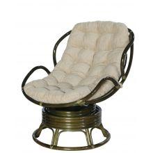 Кресло Папасан Челси вращающийся - олива