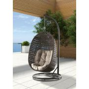 Подвесное кресло качели Тенерифе коричневые