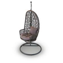 Венеция подвесное кресло коричневое