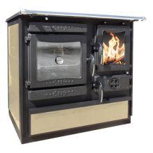 Отопительно варочная печь Guca Guliver с теплообменником кремовая