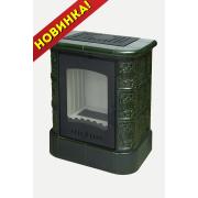 Печь-Камин EcoKamin София цоколь изразцовая зелёная Барокко
