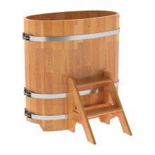 Купель для бани и сауны Bentwood овальная из сращенных ламелей лиственницы (0,59Х1,06 H=1,1)