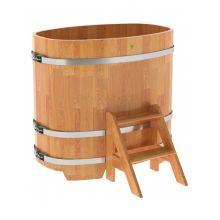 Купель для бани и сауны Bentwood овальная из сращенных ламелей лиственницы (0,76Х1,16 H=1,1)
