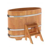 Купель для бани и сауны Bentwood овальная из сращенных ламелей лиственницы (0,69Х1,31 H=1,0)