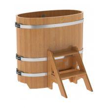 Купель для бани и сауны Bentwood овальная из лиственницы (0,59Х1,06 H=1,0)