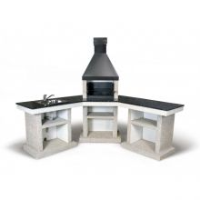Барбекю Stimlex Anora L+стол+мойка black