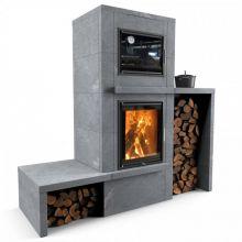 Отопительная печь с духовкой Теплый камень HERITAGE VII-2P