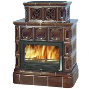 ABX Karelie с кафельным цоколем и теплообменником 10 кВт, коричневая
