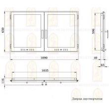 Дверь для печи Мета 1090x650 на заказ