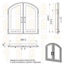 Дверь для печи Мета МОТ147 на заказ
